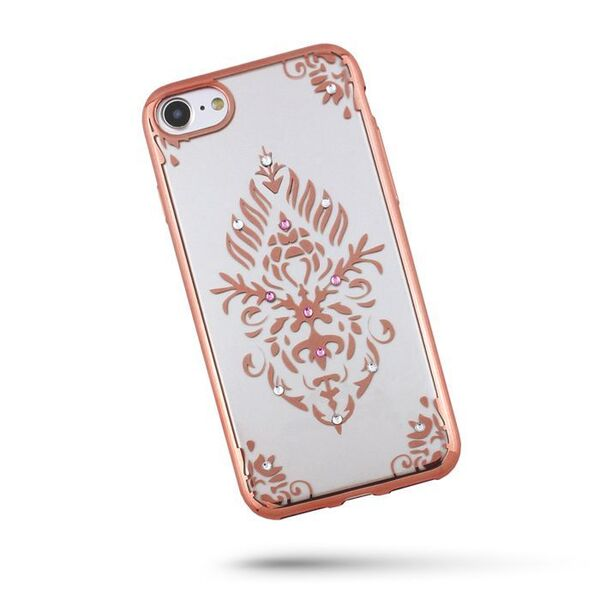 Силиконов калъф Beeyo Floral за Samsung Galaxy S8, Розов