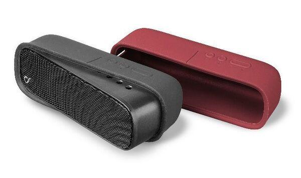 Bluetooth колонка SPARKLE с две лица, Черна/Червена