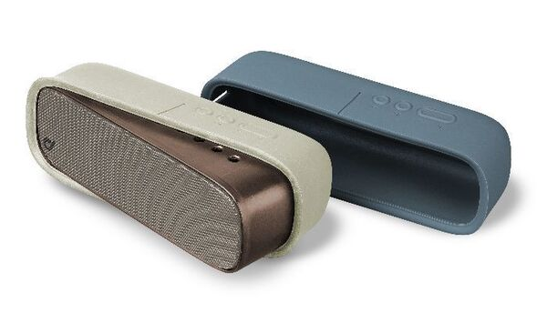 Bluetooth тонколона Sparkle с две лица, Бяло/Синьо