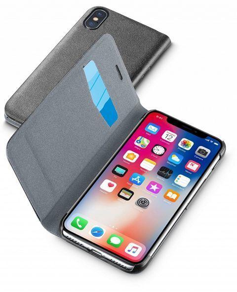 Кожен Book калъф за iPhone X/XS, Черен