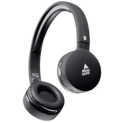 Bluetooth Аудио Слушалки Music Sound, Черни