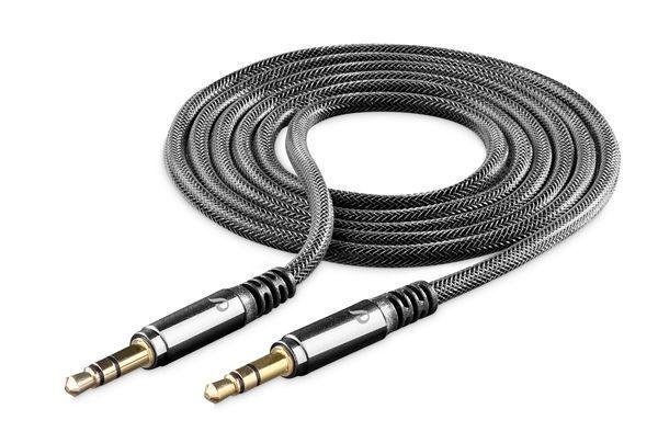Аудио кабел Unique Design 3.5mm - 3.5mm, AUX, 1м, Черен