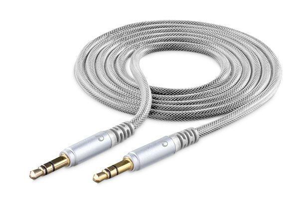 Аудио кабел Unique Design 3.5mm - 3.5mm, AUX, 1м, Сив