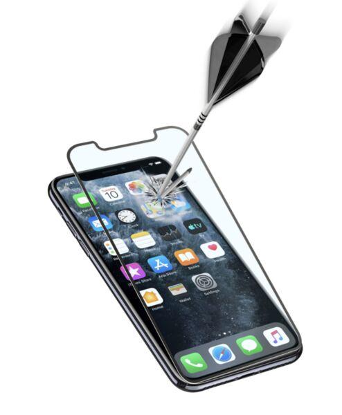 Закалено стъкло за iPhone 11 Pro/X/XS, Черно