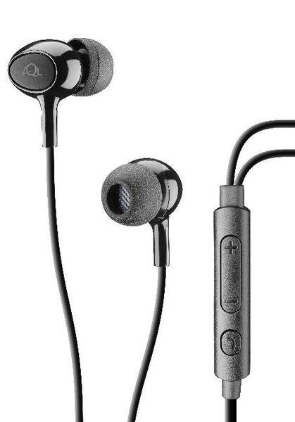 Аудио слушалки Acoustic+ AQL с микрофон, Черни