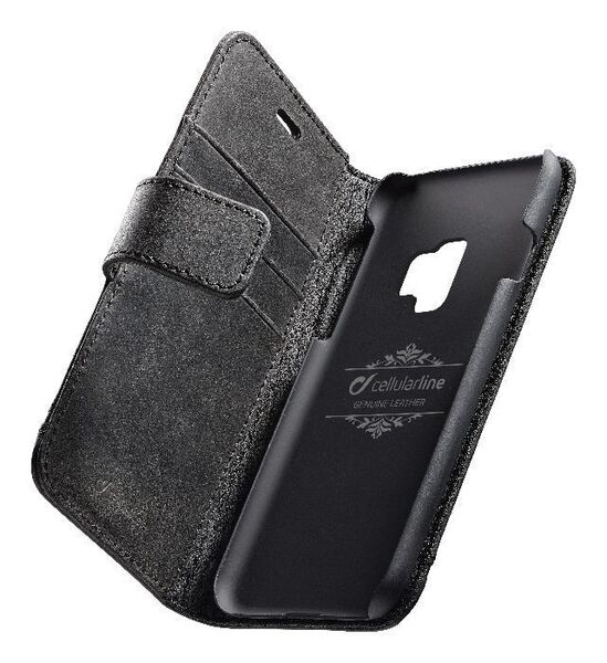 Кожен калъф Book Supreme за Samsung Galaxy S9, Чeрeн