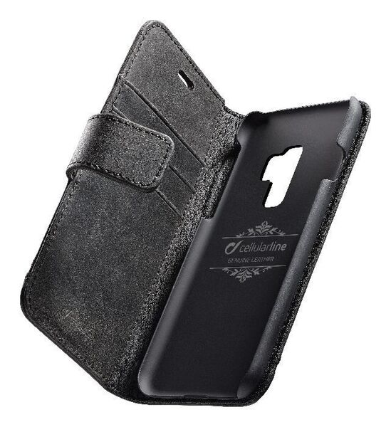 Кожен калъф Book Supreme за Samsung Galaxy S9 Plus, Чeрeн