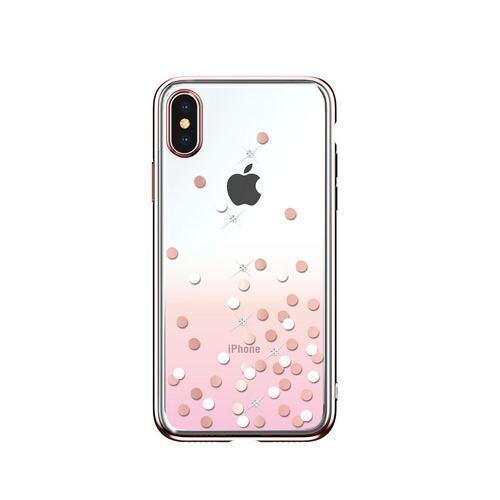 Калъф Devia Polka Crystal за iPhone XR, Розов