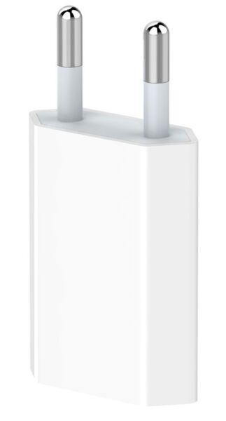 Зарядно Devia 220V USB 1A, Бяло, Адаптер