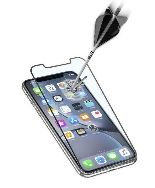 Закалено 3D стъкло за iPhone 11/XR, Черно