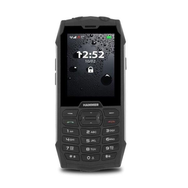Мобилен телефон Hammer 4, Сив