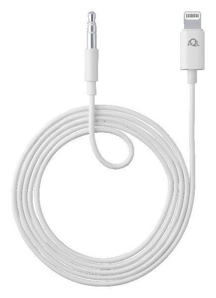 Аудио кабел 3,5мм - Lightning, Бял
