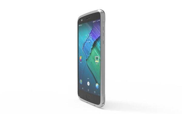 Метален Bumper за Motorola Z2 Play, Сив