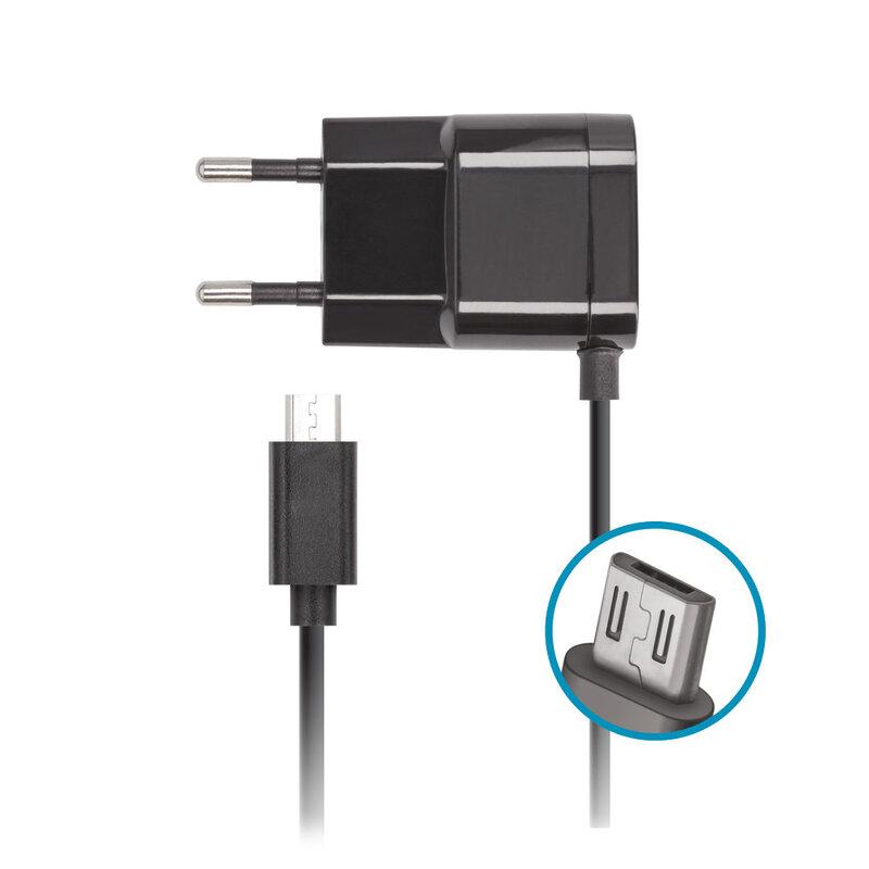 Зарядно Forever с microUSB кабел, 220V, 1A