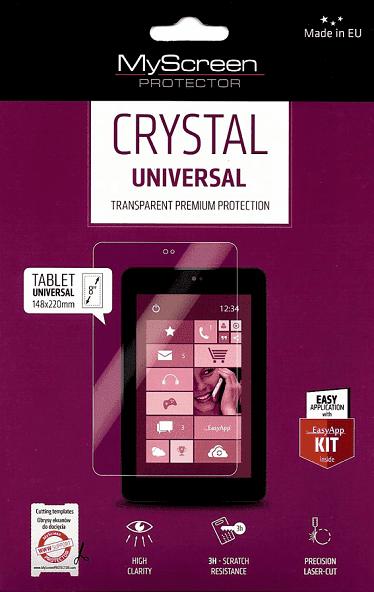 Универсално кристално фолио за таблет до 8'
