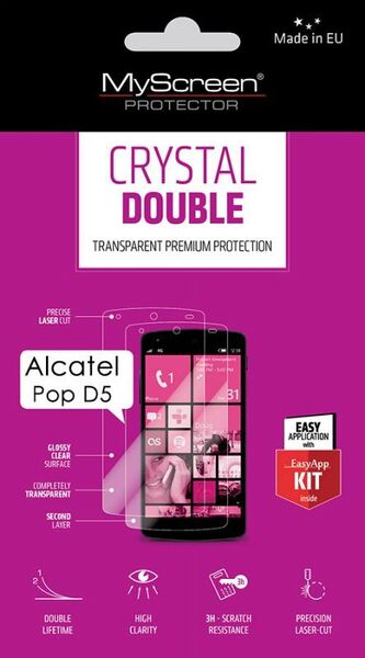 Кристално фолио Double Crystal за Alcatel Pop D5