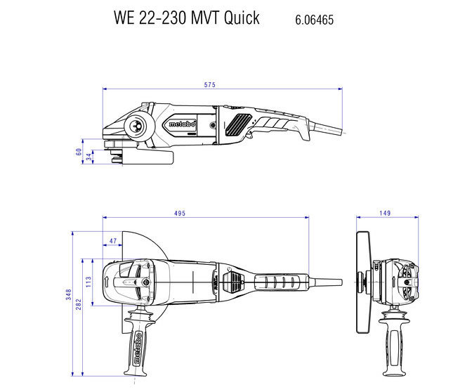 Ъглошлайф Metabo WE 22-230 MVT