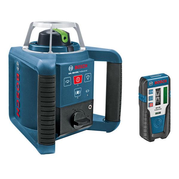 Нивелир лазерен ротационен 300м, точност 0.1мм, с приемник, Bosch GRL 300 HVG Professional