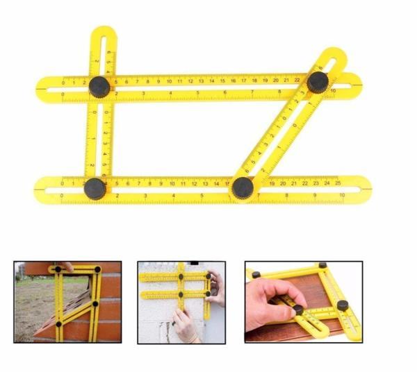 Многоъгълна линия - уред за пренасяне на ъгли, шаблон, ъгломер, пантограф