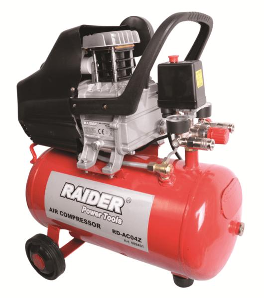 Компресор 24л, 1500W, 0,8 MPa, RAIDER RD-AC04Z
