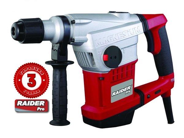 Къртач SDS MAX, 1250W, 10 J, 1250-2800 оборота, RAIDER RDP-HD30