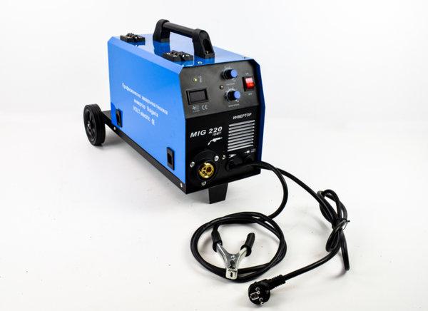 Телоподаващ апарат MIG-220A, Volt Electric с колела и място за бутилка (работи и без бутилка газ)