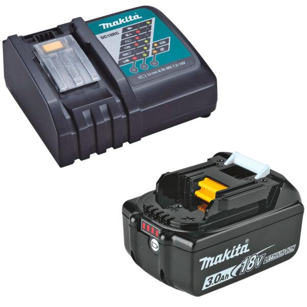 Батерия акумулаторна 18V Makita BL1830 + зарядно устройство Makita DC18RC