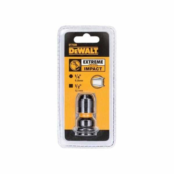 """Адаптор DeWALT DT7508 за вложка квадрат - квадрат, 1/2"""" х 1/4"""", 52 мм"""