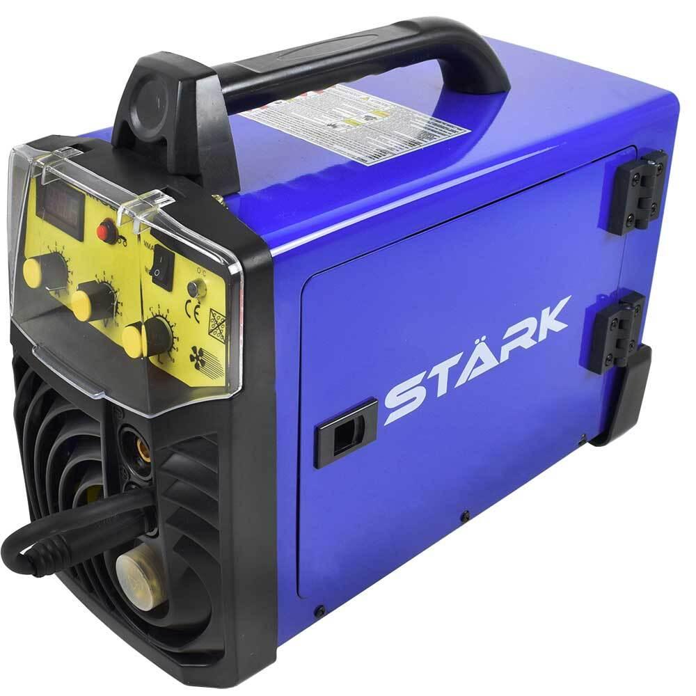 Телоподаващ апарат с електрожен STARK 230XSP SET комплект с бутилка, редуцир вентил, заваръчен шлем, тел