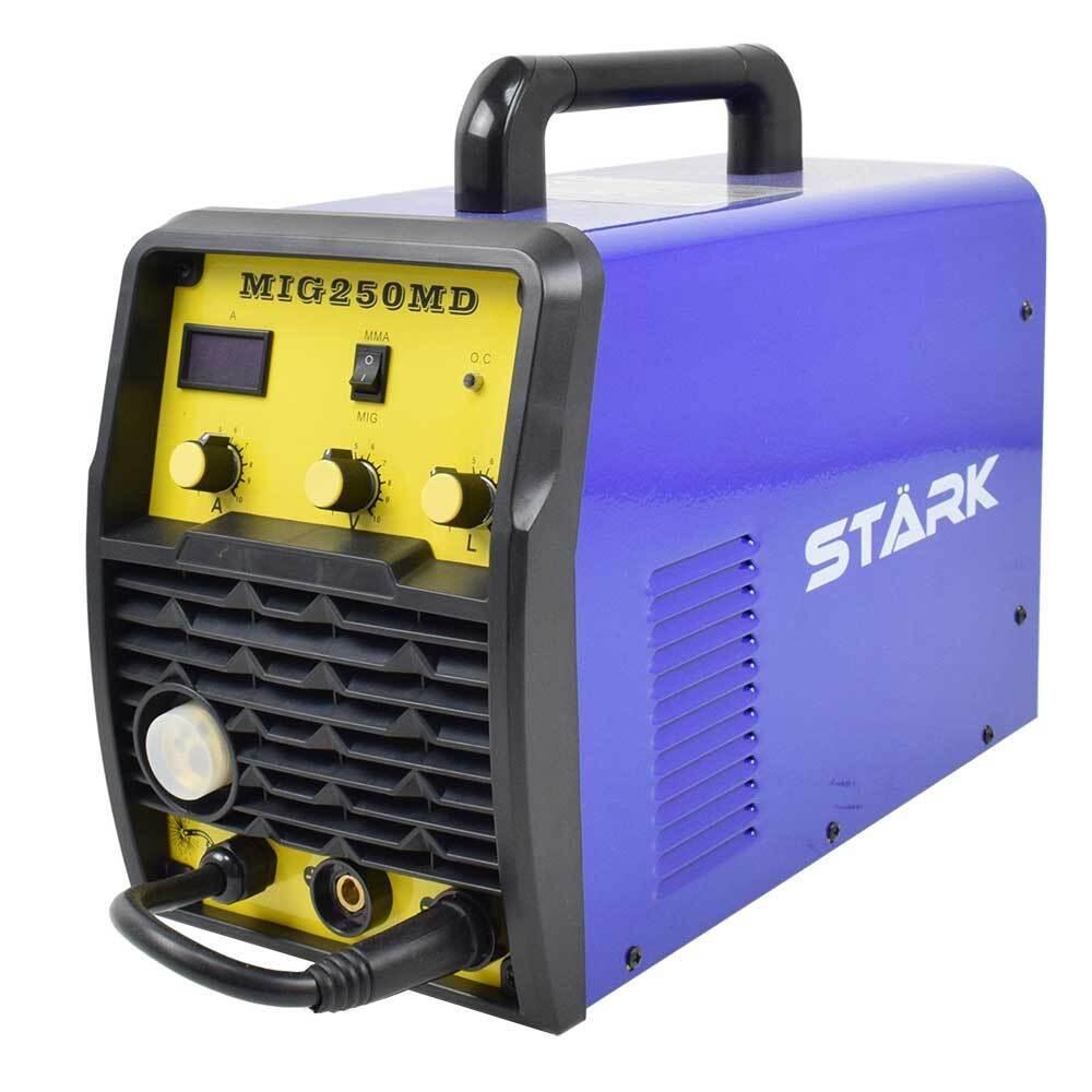 Телоподаващ апарат с електрожен STARK 250MD SET комплект с бутилка, редуцир вентил, заваръчен шлем, тел