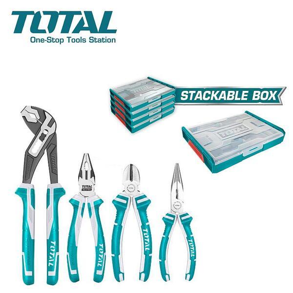 Комплект клещи в органайзер, TOTAL THKTV02P041, 4 части