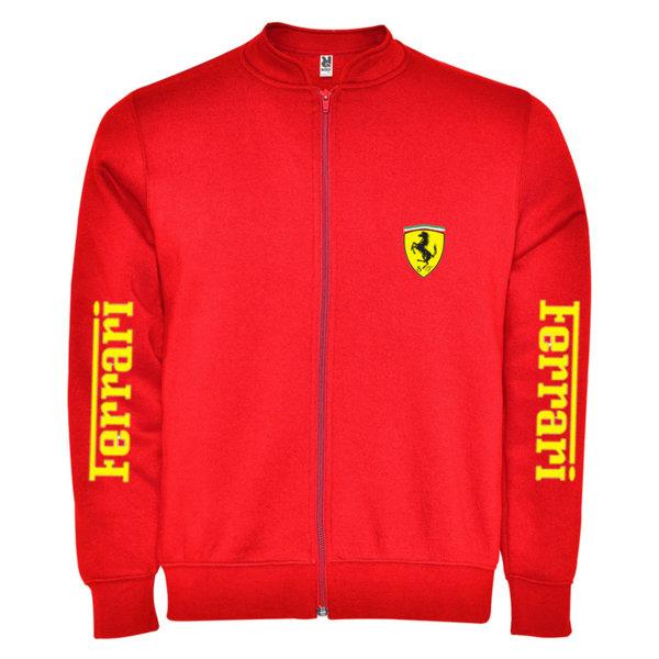 Ανδρική ζακέτα από πολάρ με χαμηλό κολάρο Ferrari