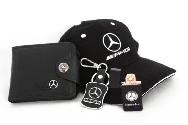 Καπέλο με γείσο, μπρελόκ, πορτοφόλι και αναπτήρα USB -MERCEDES-BENZ