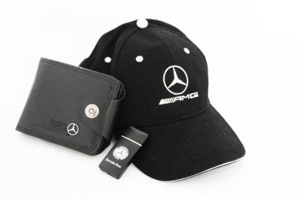 Καπέλο με γείσο,χαρτοφυλακίου  και αναπτήρα USB - σετ MERCEDES-BENZ