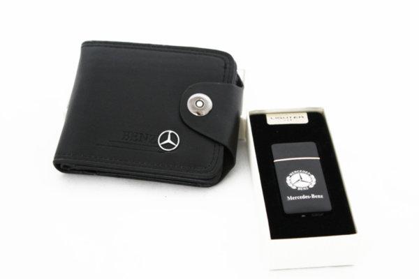 Σετ πορτοφολιών, μπρελόκ και αναπτήρα USB-MERCEDES-BENZ