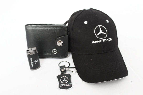 Καπέλο με γείσο, μπρελόκ, πορτοφόλι και αναπτήρα-MERCEDES-BENZ