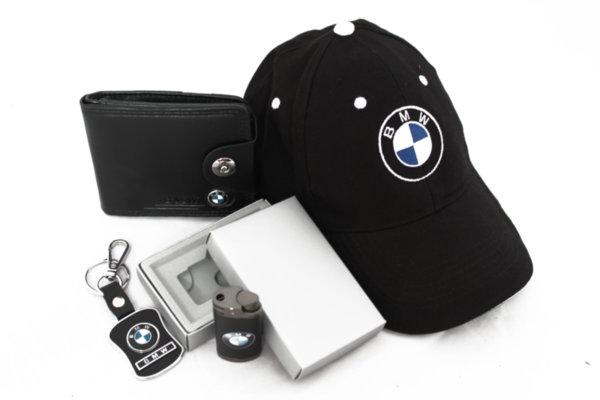 Καπέλο με γείσο, μπρελόκ, πορτοφόλι και αναπτήρα-BMW