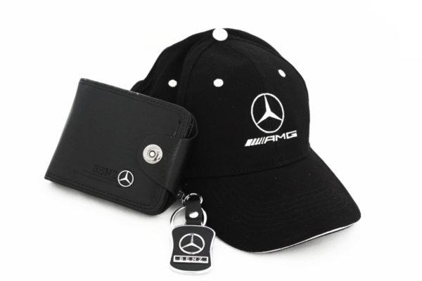 MERCEDES-BENZ Μπρελοκ, Πορτοφόλι και Καπέλο με γείσο