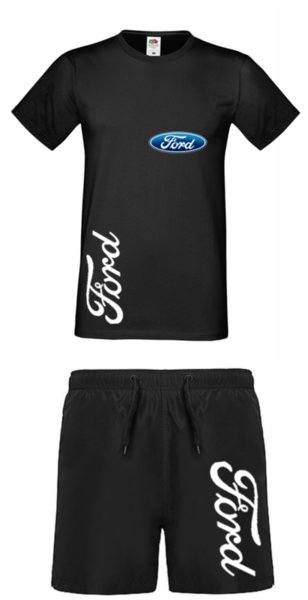 Καλοκαιρινή Αθλητική Φόρμα Πολυεστέρα FORD - Μπλουζάκι και Σὀρτς Κολύμβησης