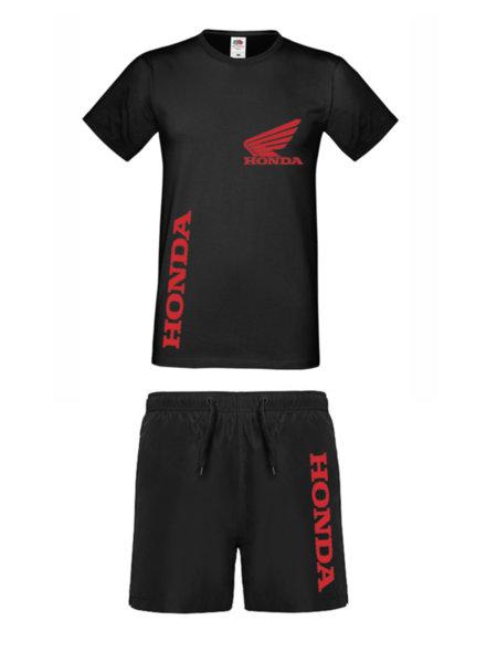 Καλοκαιρινή Αθλητική Φόρμα Πολυεστέρα HONDA - Μπλουζάκι και Σὀρτς Κολύμβησης