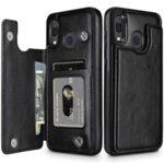 Кожен кейс портфейл със слотове за кредитни карти за iPhone SE (2020)-Copy