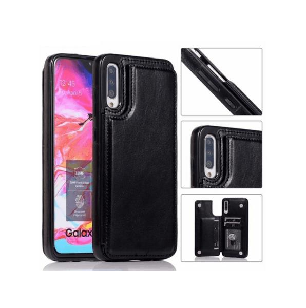 Кожен кейс портфейл със слотове за кредитни карти за Samsung Galaxy A70