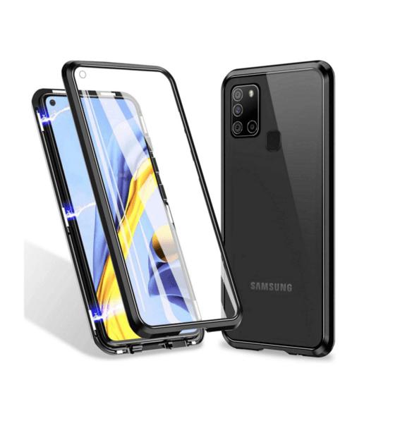 360 градусов кейс с протектор и магнитно затваряне за Samsung Galaxy A21s