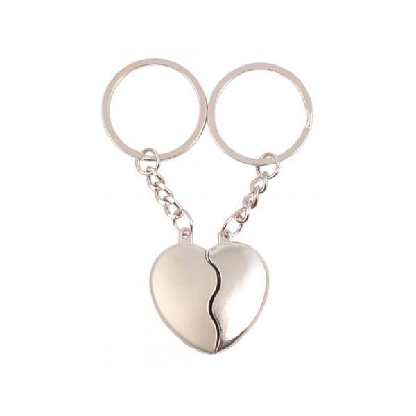 Комплект ключодържатели за влюбени - Две половини на едно сърце