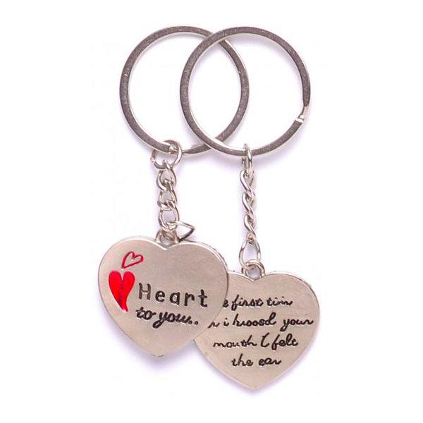 Комплект ключодържатели за влюбени - Две сърца