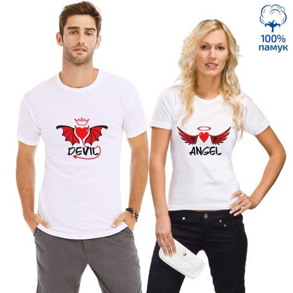 Комплект тениски Devil/Angel за него и нея