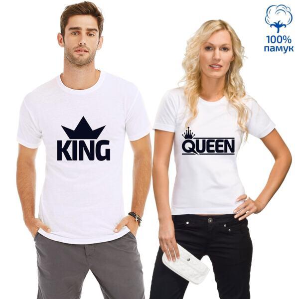 Комплект тениски за влюбени King/Qeen