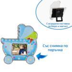 Магнит бебешка количка със снимка за момче