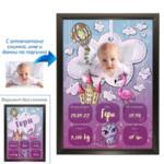 Колаж - визитка за бебе момиче - 1