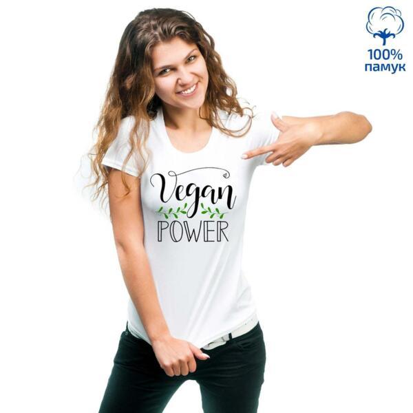 Дамска тениска Vegan power - 1